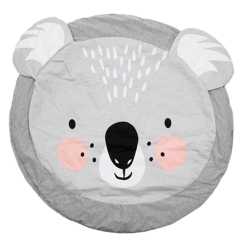 Xigeapg 90Cm Estera De Jugar Juego para Ninos Estera Tapete Alfombra Redondo Manta De Rastreo De Algodon Alfombra De Piso para Ninos Decoracion De La Habitacion Ins Regalos para Bebes Koala