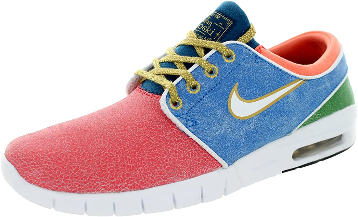 Nike SB Stefan Janoski Max L QS (Rio/WhitePhoto Blue) Men's Skate Shoes