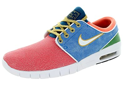 superior quality a231c 42ae9 Nike Mens x Concepts Janoski Max L QS Mosaic Red Blue-Gold Leather Size.  Roll over image to zoom in