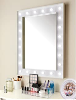 Light up dressing table hollywood mirror led bulbs make up vanity new design hollywood 24 led bulb mirror needs 3 x aa batteries not included aloadofball Gallery