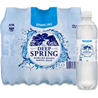 Deep Spring Sparkling Natural Mineral Water 12 x 500ml