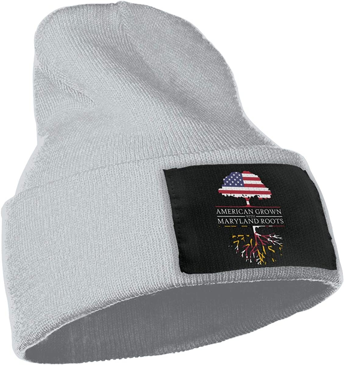 American Grown with Maryland Roots Men Women Knit Hats Stretchy /& Soft Skull Cap Beanie