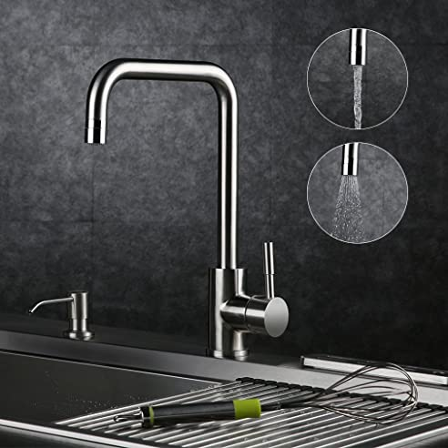 Kinse Küchenarmatur Spültischarmaturen Wasserhahn Küche, 360 ...
