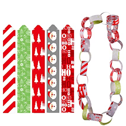 Christmas Paper Chains Uk.Tuparka Festive Paper Chains Merry Christmas Craft Paper