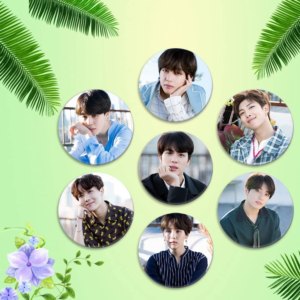 Youyouchard BTS Bangtan Boys Love Yourself 承 - style15 Answer BTS Badge Button Pin Brooches for BTS Army 2.3 Inch Her Tear 結 轉 58mm H01-7PCS