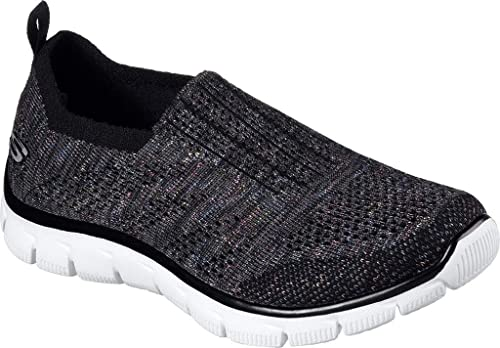 Skechers Womens Empire - Round Up Black Multi Fabric Trainers 38 EU: Amazon.es: Zapatos y complementos