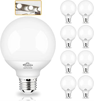 G25 Globe Light Bulbs 8 Pack Led Vanity Light 5000k Daylight For Bathroom Vanity Makeup Mirror Winshine Led Bedroom Lights E26 Medium Screw Base 5w 60w Equivalent 500lm Non Dimmable Amazon Com