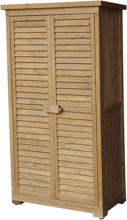 Gardiun KNH1105 - Caseta Armario Emmy 87x46, 5x160 cm Madera para Exterior: Amazon.es: Jardín