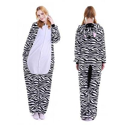 Pijamas de dibujos animados lindo animal cebra siamesas ropa de hogar inicio otoño e invierno ropa