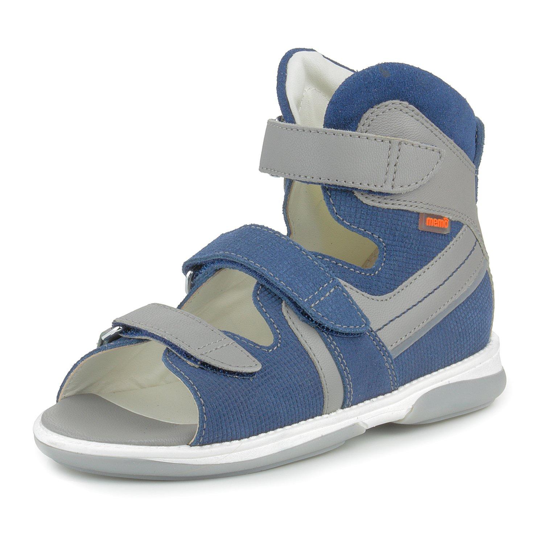 Memo Hermes 1DA Boys' Orthopedic Ankle Support High Sandal, 32 (1 Little Kid) by Memo