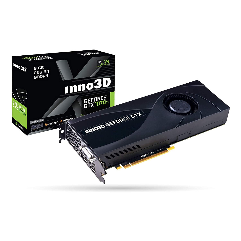 Inno3D N107T-1DDN-P5DN - Tarjeta gráfica (GeForce GTX 1070 ...