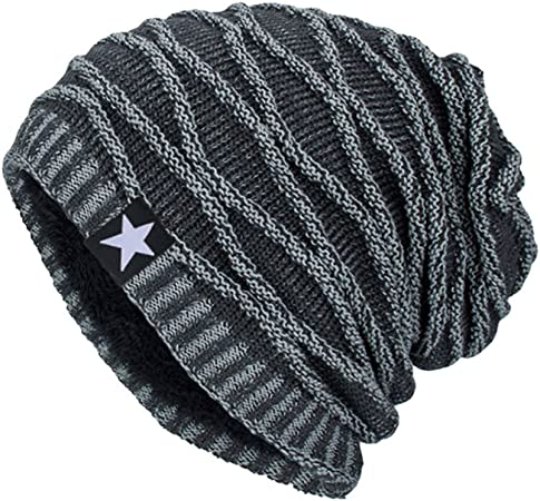 SEiZ Unisex Adults Knitted Hat Mb//Ws