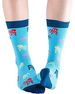 Gull women/'s soft bamboo crew socks in sky blueBy Doris /& Dude
