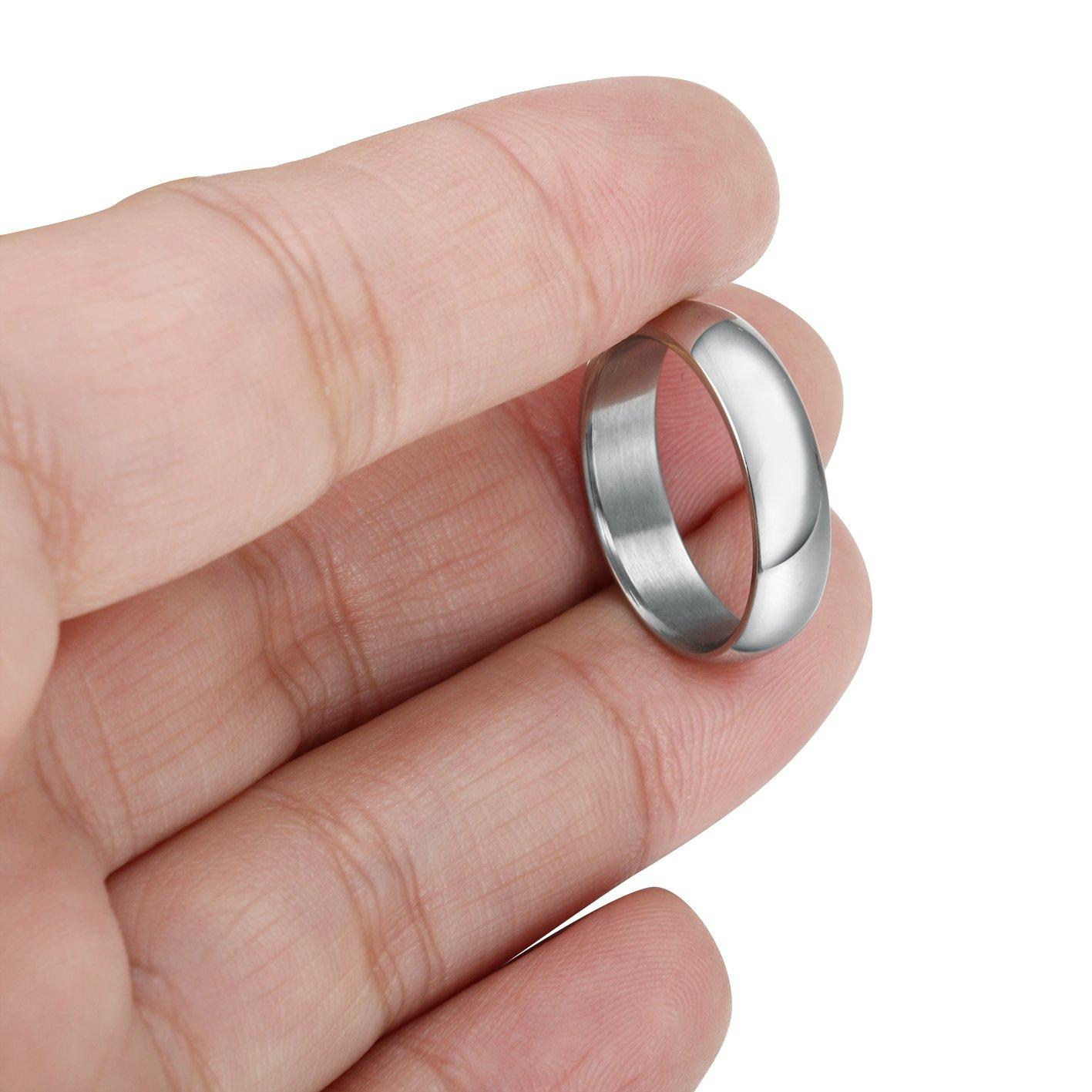 Besteel 5MM Wedding Band Ring for Men Women Promise Engagement Ring ...