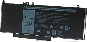 6MT4T Battery Replacement for Dell Latitude E5470 E5570 E5270 5470 5570 7V69Y TXF9M 79VRK 07V69Y 0TXF9M Precision 15 3510 M3510 HK6DV 0HK6DV 079VRK 535NC 535NC 451-BBUN P23T P62G [7.6V 62Wh Battery]