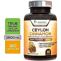 Certified Organic Ceylon Cinnamon (Made with Organic Ceylon Cinnamon) 1800mg - Organic...