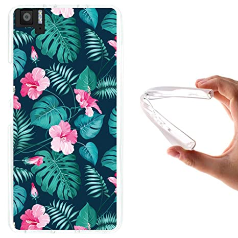 WoowCase - Funda Gel Flexible {bq Aquaris M5}  Flores ...