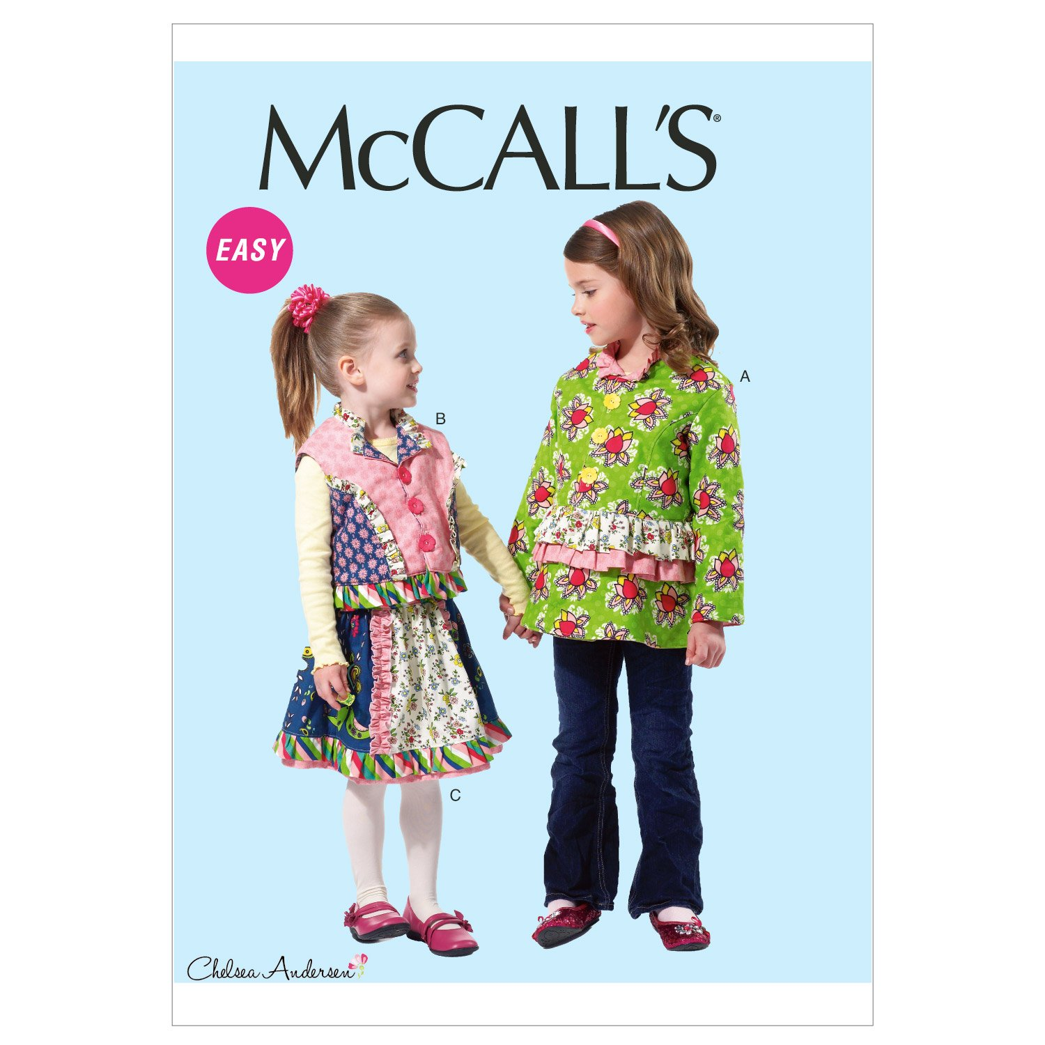(CDD (2-3-4-5)) - McCall's Pattern Children's and Girls' Lined Jacket, Vest, and Skirt, CDD (2, 3, 4, 5)   B008FWGWVQ