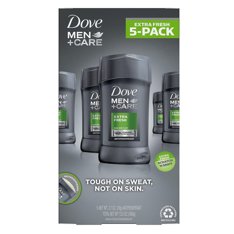 Dove Men Care Non-Irritant Antiperspirant Deodorant, Extra Fresh - 2.7 Ounce (5 in Pack)