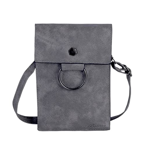 ee7bebf83ea93a Amazon.com: Woman Portable Crossbody Cellphone Bags, Iphone purses with  Credit Card Slots and Shoulder Strap(Grey): Shoes