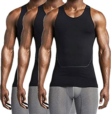 Mens Breathable Vest Shirt Compression Base Layer Muscle Fitness Muscle Tops Tee