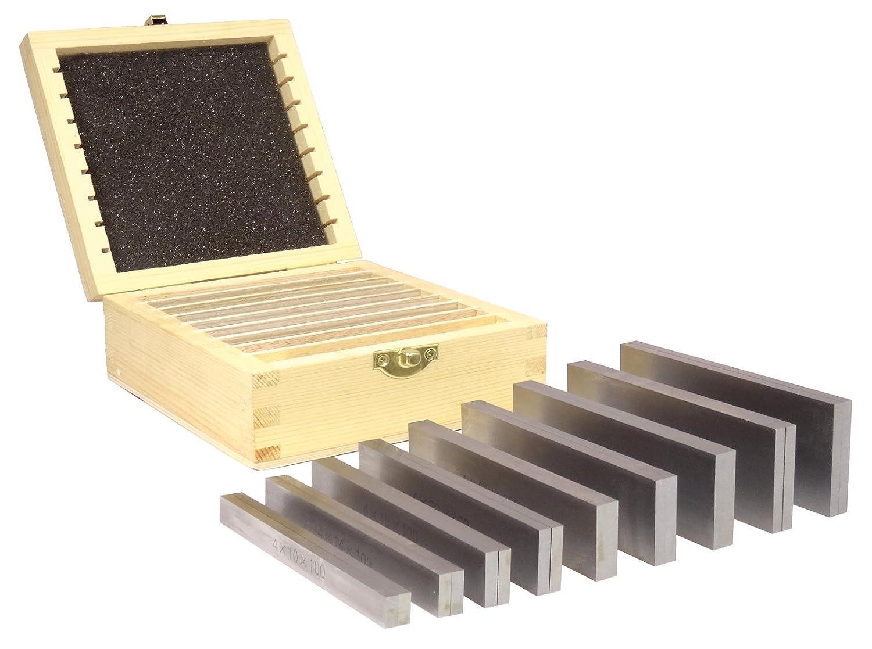 PB151-2 160 x 4 x Pr/äzisions Parallelunterlagen 9x2 Stk 10|14|18|22|26|30|34| Set im Holzkasten Fr/äsunterlage