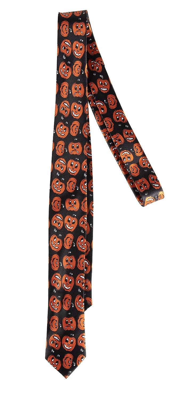 Men Women Teens Halloween Suspender and Tie Set Jack-O-Lantern Pumpkin Costume Accessory