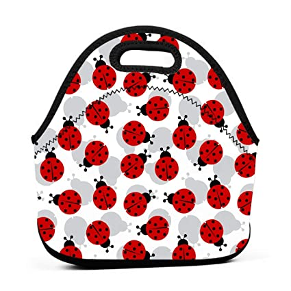 dc3e202c560a Amazon.com - ONUPMIN Ladybugs Cartoon Cute Lunch Bag Waterproof ...