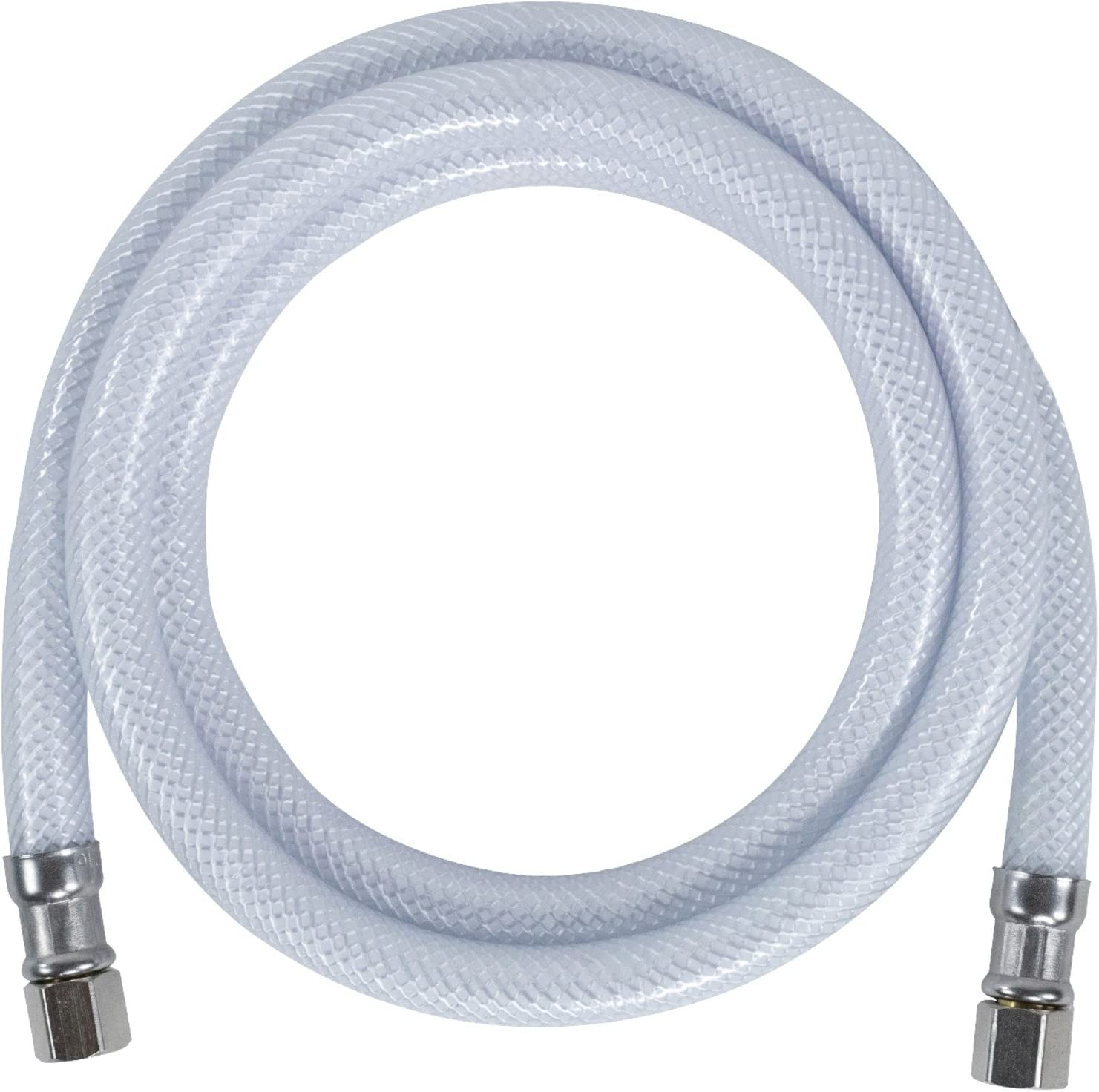 Certified Appliance Accessories Ice Maker Water Line, 6 Feet, Polyester-Reinforced PVC, White in Protective Clamshell Packaging