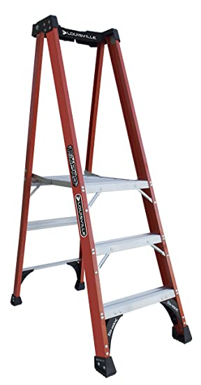 Louisville Ladder Fxp1803 Hd Fiberglass Pro Platform Ladder, Type Iaa, 375 Pound Load Capacity, 3 Feet by Louisville Ladder