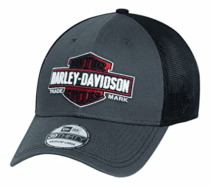 0473b9080aff4 Harley Davidson Men s Trademark 39THIRTY Trucker Cap Hat