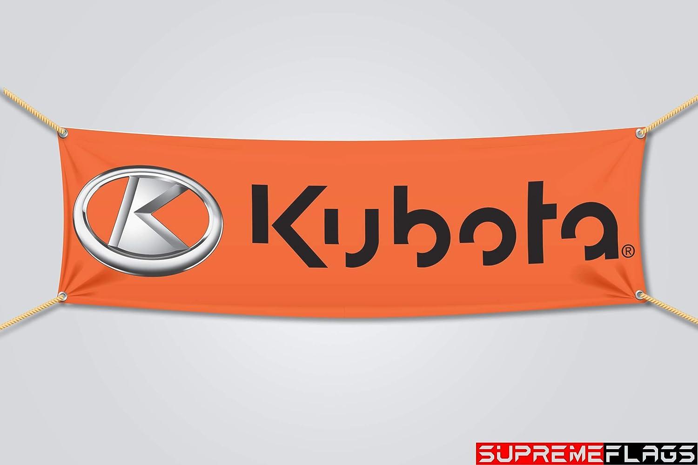 Brand New Kubota Flag Banner Tractors Shop Garage 18x58 in