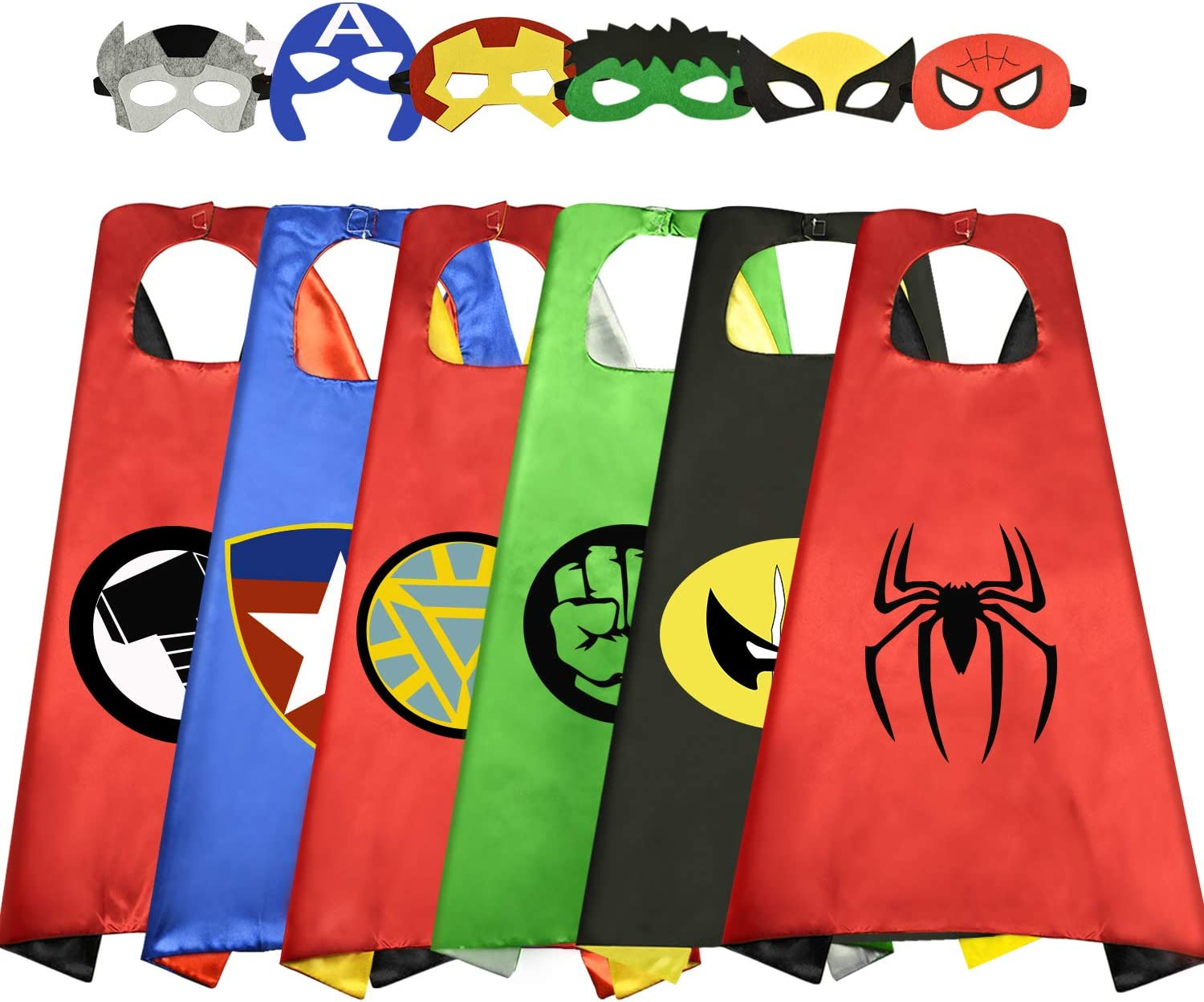 Wiki super hero capes for kids in various colors