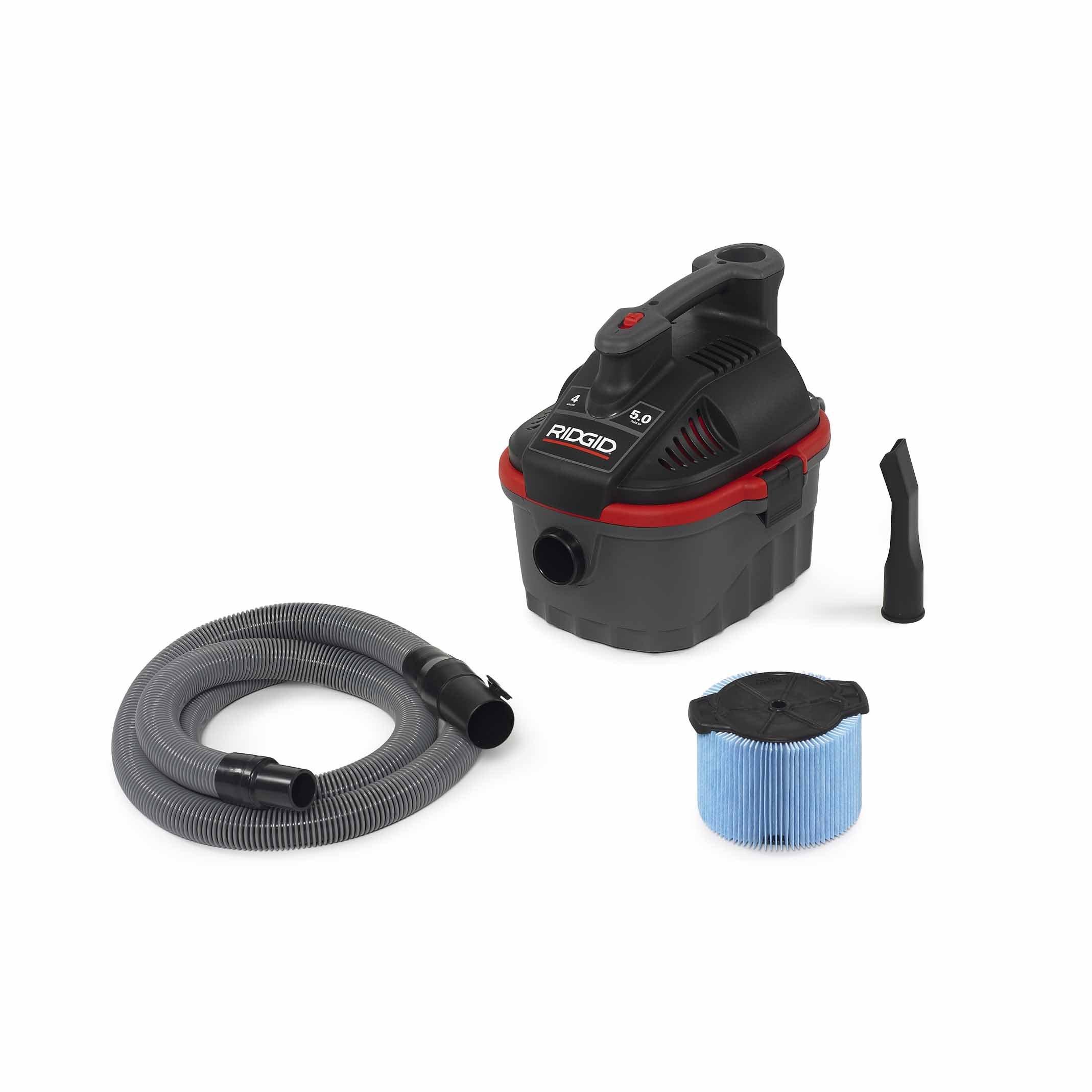 Ridgid 50313 4000RV Wet/Dry Vacuum, 4 gal, Red by Ridgid