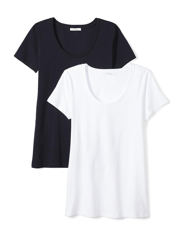 Daily Ritual Womens Stretch Supima Short-Sleeve Scoop Neck T-Shirt Brand