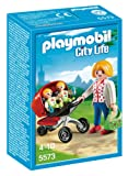 Playmobil City Life Preschool Mother with Twin Stroller