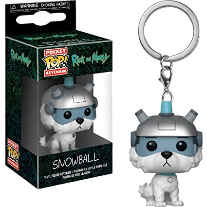 Funko Snowball: Rick & Morty x Pocket POP! Mini-Figural Keychain + 1 American Cartoon Themed Trading Card Bundle [32351]
