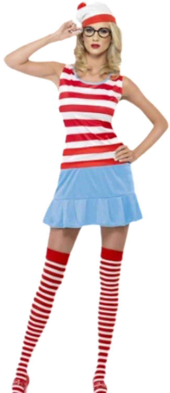 erdbeerloft - Femme Wanda Cutie Costume Carnaval de Cologne Marinière avec bonnet, Lunettes et chaussettes, XS à M, rouge - Rouge - Medium: Amazon.es: Ropa ...