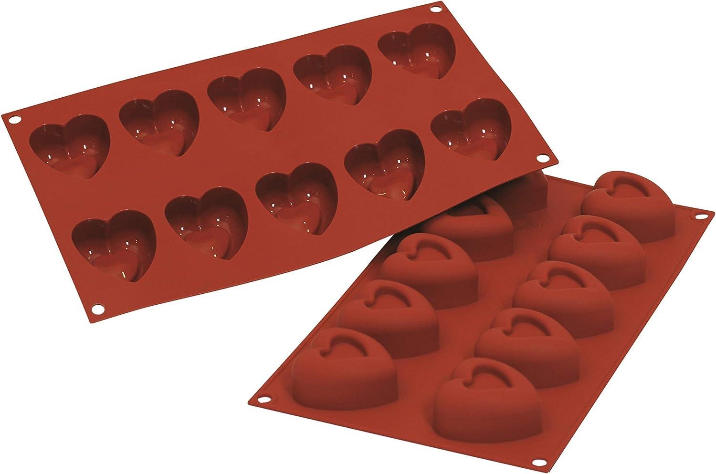 Color Terracota SF040 Molde de Silicona 8 cavidades con Forma de coraz/ón