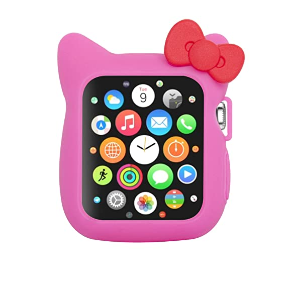 69f2a132c Image Unavailable. Image not available for. Color: Navor Soft Silicone  Protective Cute Kitty Case Cover Case Compatible with Apple Watch 42mm  Series 1