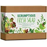 Scrumptious Fresh Salad Gift Seed Kit. 6 Delicious, Grow Your Own Varieties to Harvest All Summer Long.