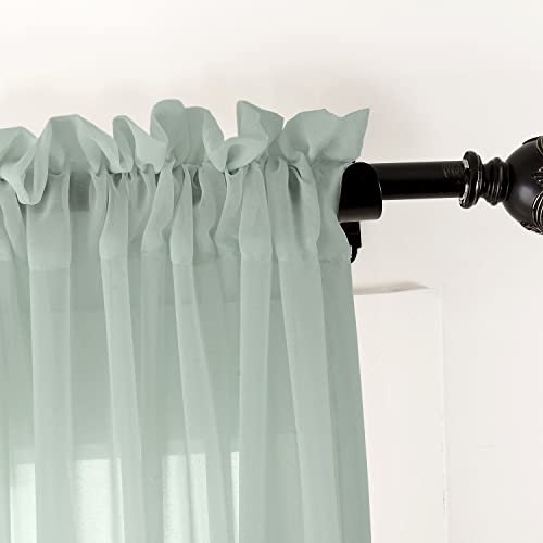 ChadMade Indoor Outdoor Solid Sheer Curtain Rod Pocket