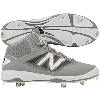 1f516a140dac5 Buy New Balance Mens M4040v3 Mid Metal Cleats Grey/White 2E 11. 5 Online at  Low Prices in India - Amazon.in