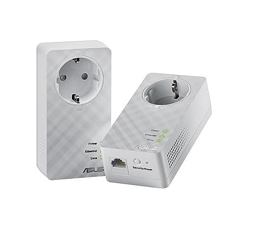 21 opinioni per Asus PL-E52P Duo Kit di 2 Adattatori Powerline AV600 Mbps, 1 Porta Gigabit LAN,