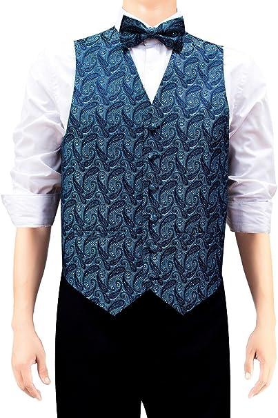 Retreez - Chaleco de cachemira elegante para hombre con corbata ...