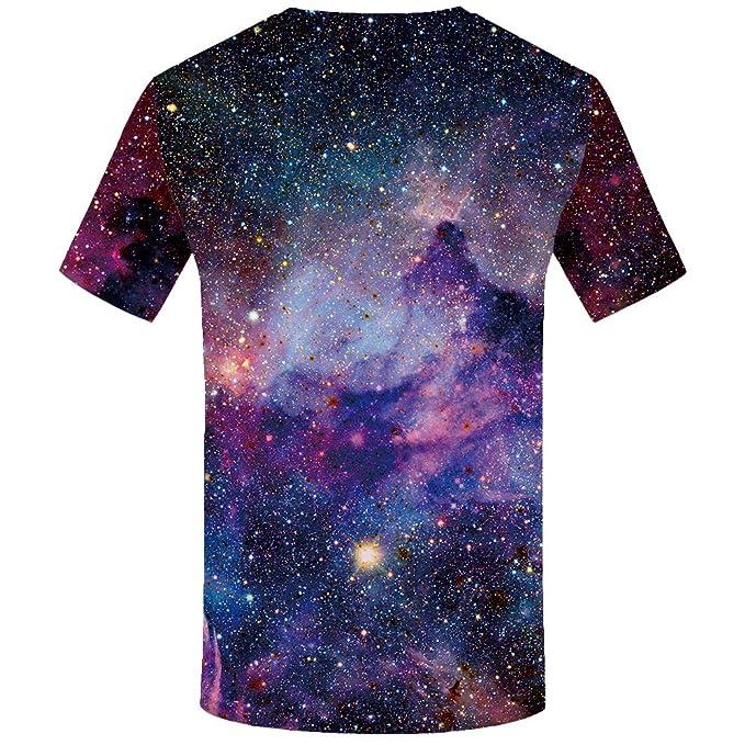 63e66f6a3453 Amazon.com  KYKU 3D T Shirts for Men Funny Tshirts Pattern Printed T Shirt  Short Sleeve Tees  Clothing