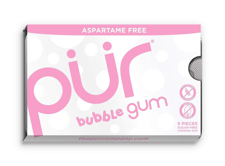 PUR Gum Cinnamon Aspartame Free, 9-Piece (12 Packs Per Tray) 108 Count Pur-Gum CA