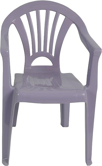 Silla apilable silla silla de jardín silla plástico color morado – Lila: Amazon.es: Jardín