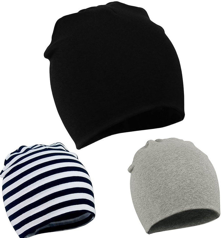 92e365ebca1 Amazon.com  Zando Toddler Infant Baby Cotton Soft Cute Knit Kids Hat Beanies  Cap  Clothing