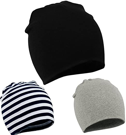 19c564a7d Amazon.com  Zando Toddler Infant Baby Cotton Soft Cute Knit Kids Hat ...